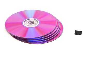 DVD-CD next to memory card