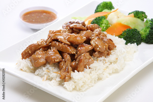 Teriyaki Chicken with Steam Rice