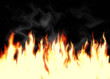 Illustration of fire on black background
