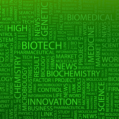BIOTECH. Wordcloud vector illustration.
