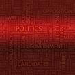 POLITICS. Word cloud concept illustration.