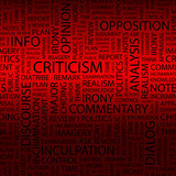 CRITICISM.   Illustration with different association terms. poster