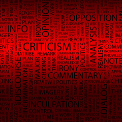 CRITICISM.   Illustration with different association terms.
