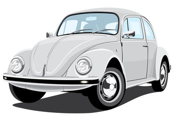 Vector isolated retro car, without gradients