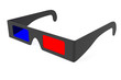 Anaglyph 3D glasses isolated on white