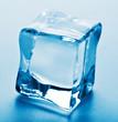 macro of ice cube