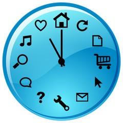 zegar ikonkowy