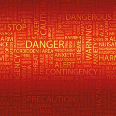 DANGER. Wordcloud vector illustration.