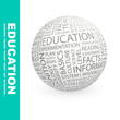EDUCATION. Wordcloud vector illustration.