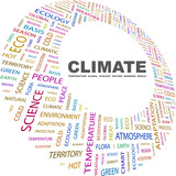 CLIMATE. Word collage on white background. poster