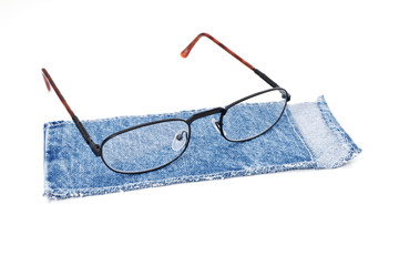 glasses and cloth case - occhiali con custodia