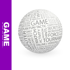 GAME. Illustration with different association terms.