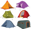 Set of tourist tents - 30291353