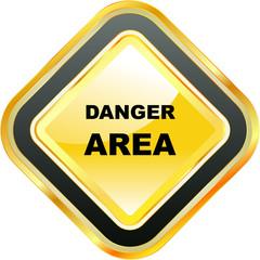 DANGER AREA. Vector sign.