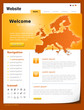 Website Template orange