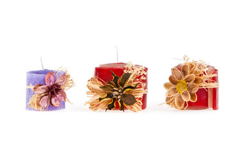 Three decorated candle (handmade) - 6