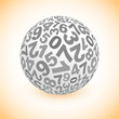 Globe with number mix. Vector illustration.