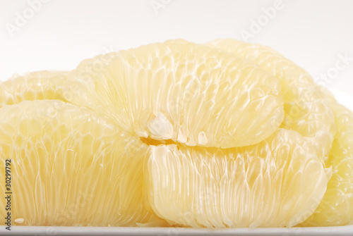 pomelo citrus isolated on white .