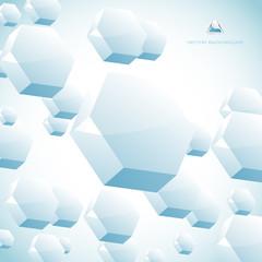 Vector hexagon background.