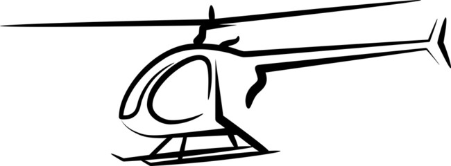 illustration with a helicopter