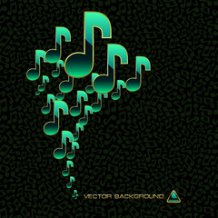 Vector abstract background with note mix.