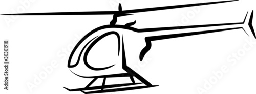 illustration with a helicopter - 30301918