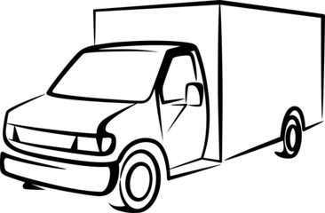 illustration with a truck