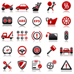 Automotive Red Icons