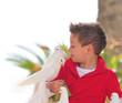 Kind mit Tauben