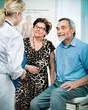 senior couple visiting a doctor