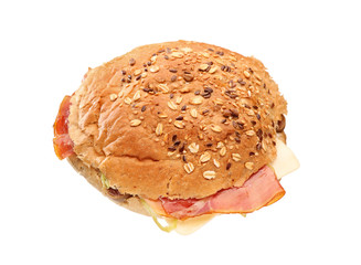 A view of a big sandwich