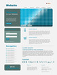 "Website Template ""Blue Business"" Vektoren"
