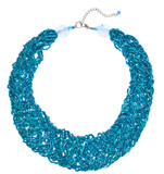 Teal Woven Bead Necklace