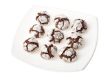 Chocolate crinkles on a plate poster