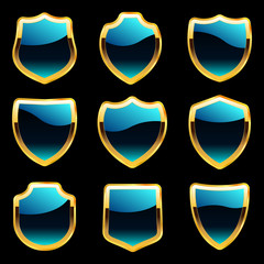 Vector shield collection for design
