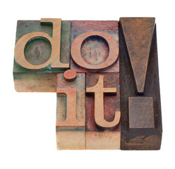 do it in letterpress type