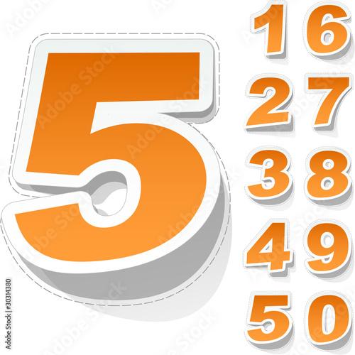 Number sticker set.