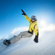 Freeride snowboarding photo