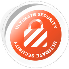 Ultimate secutity. Sticker for design.