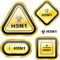 H5N1. Warning sign collection.