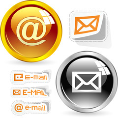 E-mail icon set for web.