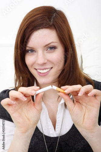 stop smoking cigarette (focus on face)