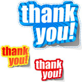 THANK YOU. Sticker collection. Vector illustration.