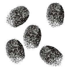 Fingerprint vector black shadow