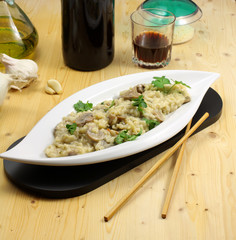 Risotto ai funghi - Risotto with mushrooms