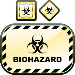 Biohazard sign. Vector set.