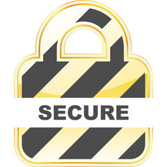 SECURE. Lock icon. Vector illustration.