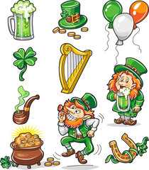 Set of Colorful st. Patric day icons