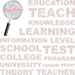 EDUCATION. Vector illustration with association terms.