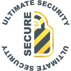 SECURE. Vector illustration.